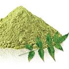Poeder gemaakt van neem