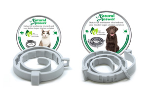 Vlooien en tekenband natuurlijk werkzaam door etherische oliën voor kat en hond