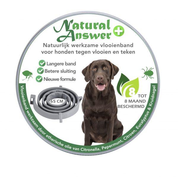 Natural Answer natuurlijk werkzame vlooienband voor honden - vooraanzicht
