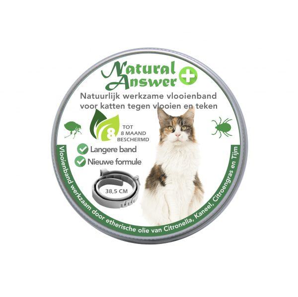 Natuurlijke vlooien- en tekenband voor katten plus - vooraanzicht | Natural Answer
