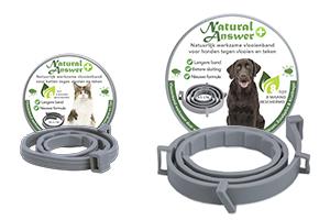 Vlooien- en tekenband op natuurlijke basis voor kat en hond